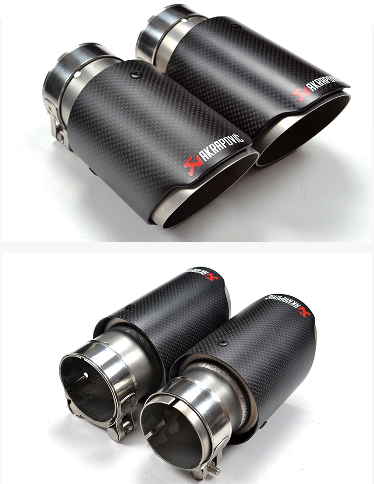 Akrapovic Carbon fiber exhaust muffler tips/exhaust end pipe for vw polo GTI/GOLf R exhaust