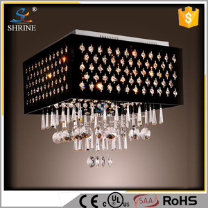 Fast Shipping Modern Lamp Black Lampshade Square Chandelier Model : SC5907