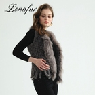 Superior Materials Lady Knitted Popular Rabbit Fur Vest Wholesale Women