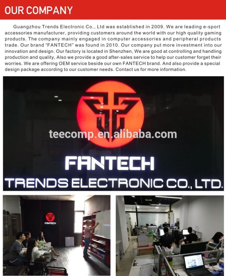 Fantech X5S นำไฟโลโก้ที่กำหนดเองสาย OEM 7D เมาส์สำหรับเล่นเกม