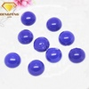 synthetic glass cabochon flat back blue gemstone
