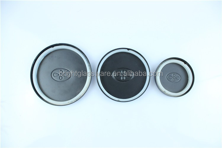 Metal lid for Glass Candle Jar&Glass Container with silicone gasket