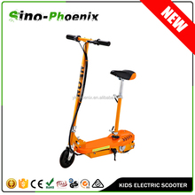 New Orange mini electric el scooter 120w with seat for kids (PN-ES8015S )