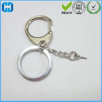 D Shaped Buckle With Chain And Split Key Ring Keyring Supplier ... 85c264b275e0