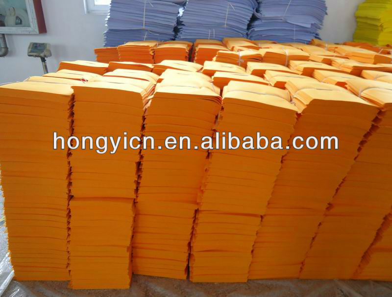 Orange high water absorption nonwoven cleaning cloth needle punched (HY-W4200)