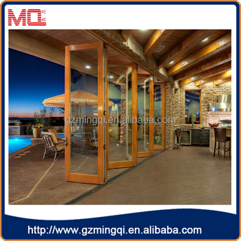 Heat insulation external tmepered glass aluminum bifolding doors