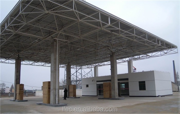 Prefab Quick Install Steel Building Service Station