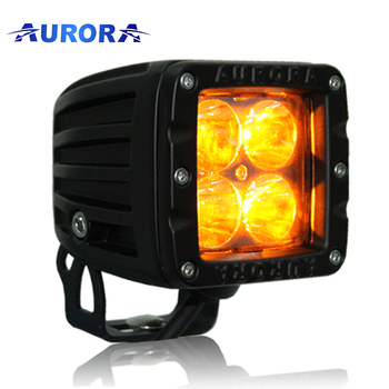 Waterproof weather light 24v Aurora 2 Inch amber yellow Led Off-road LED light POD