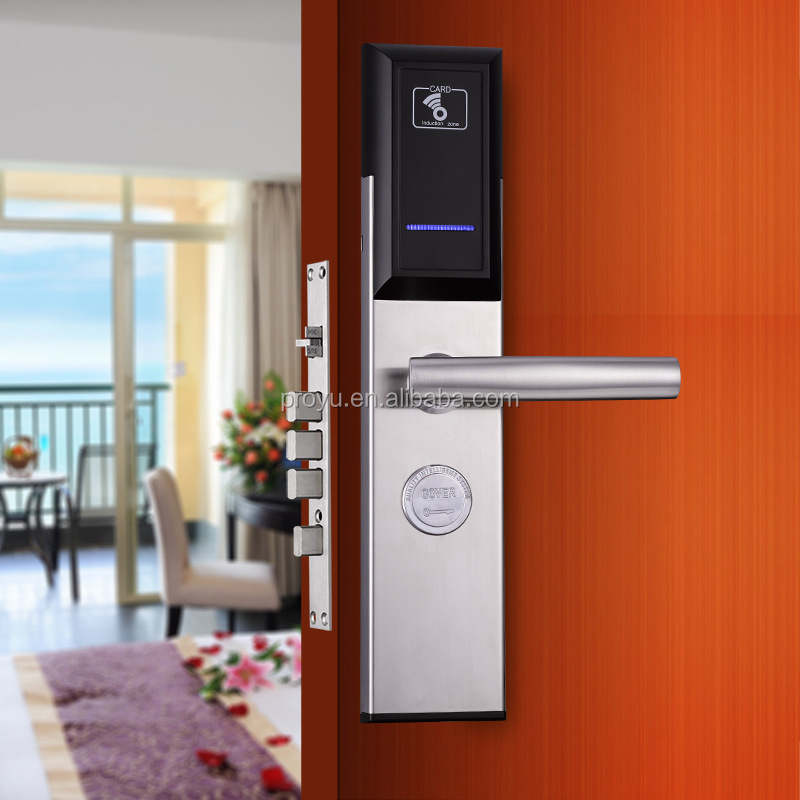 RFID Card rfid door lock for hotel, RF hotel lock system PY-8011-7