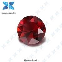 glass beads charm round raw uncut diamond