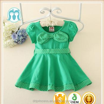 3d7cf9e889f6 Wholesale Latest Green Children Girls Summer Short Sleeves Party ...