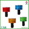 yellow LED flashing solar warning barricade light