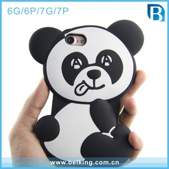 2017 Lucu Panda 3d Kartun Silicone Telepon Kasus Untuk Iphone 6 6