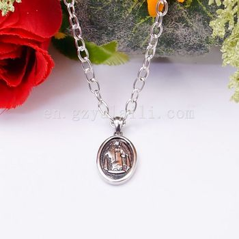 Rare Men Chain Byzantine Stainless Steel Necklace For Mens Jewelry