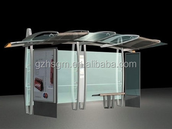 Street Steel Structure Bus Stop Station Tram Stop Shelter School Bus