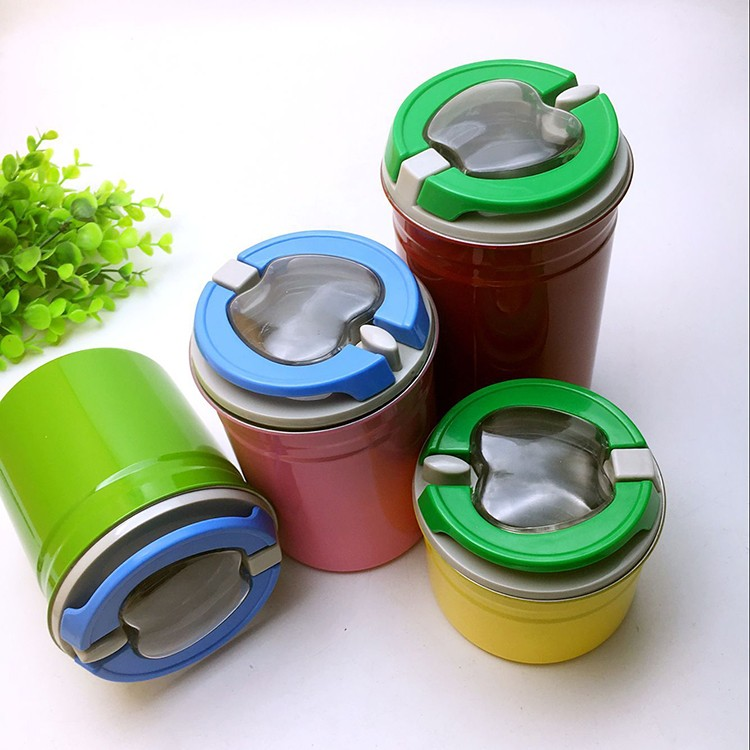 Colorful stainless steel kitchen fresh box / storage container / canister set