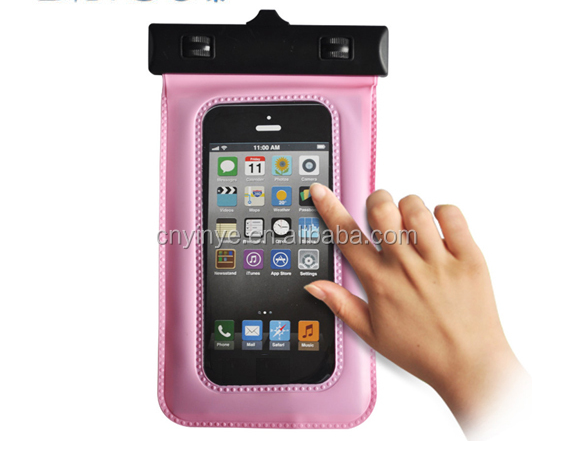 High qulity pvc waterproof bag for mobile hone waterproof pouch for iPhone