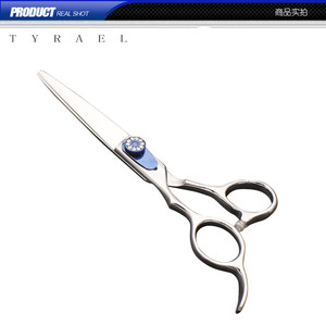Left handed Hair Application cutting scissors made of stainless steel with razor edge sharp