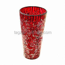 Red Crackled Glass Vase POP6000135