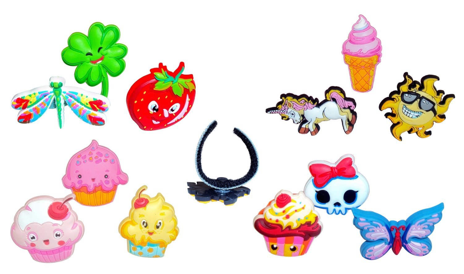 Floppets Charmlets, Cool Kids Activities - Play Rings, Kids Charms, Fun Crafts For Kids , Fun Games For Kids, Colorful Kids Party Toy Rings, Kids Backpack Decoration, Toe Rings, Kids Fashion Accessories - Cool Kids Stuff, Cheap Fun Kids Activity or Party Favor Gift. Connectable, Collectible,