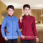 Cheap new modern hotel uniforms/ popular design 100% cotton hotel ladys uniform hotel design uniform