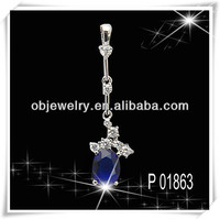 Long pendant artificial stone Turquoise jewelry