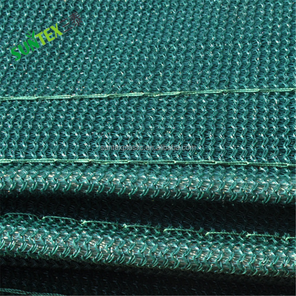 Plastic pe hek screen windjack netto voor tennisbaan, 340gsm donkergroen hdpe privacy schermen netting 1.8*9 m
