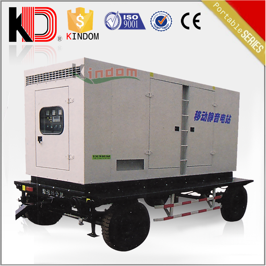 Mobile soundproof power plant 100kw portable silent generator with cummins engine 125kva diesel electric generator