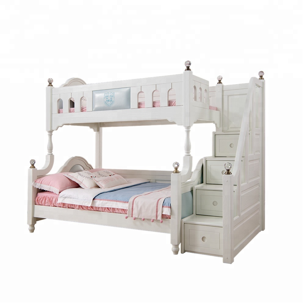 Brand Pine Wood Luxury Comfortable Durable Bedroom Furniture Sets Kids Bunk  Beds With Leather And Stairs - Buy High Quality Bunk Bed,Children Wooden ...