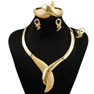 2019 newest 18k gold-plated jewelry set jewelry