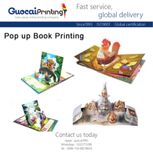 Superior quality cute 3D pop up book printing, printing children board book thick