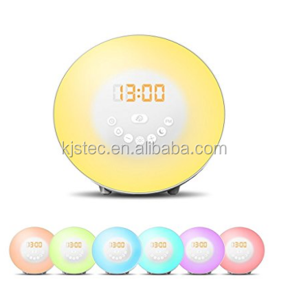 colored sunrise simulation natural sound waking up light wholesale unique alarm clock