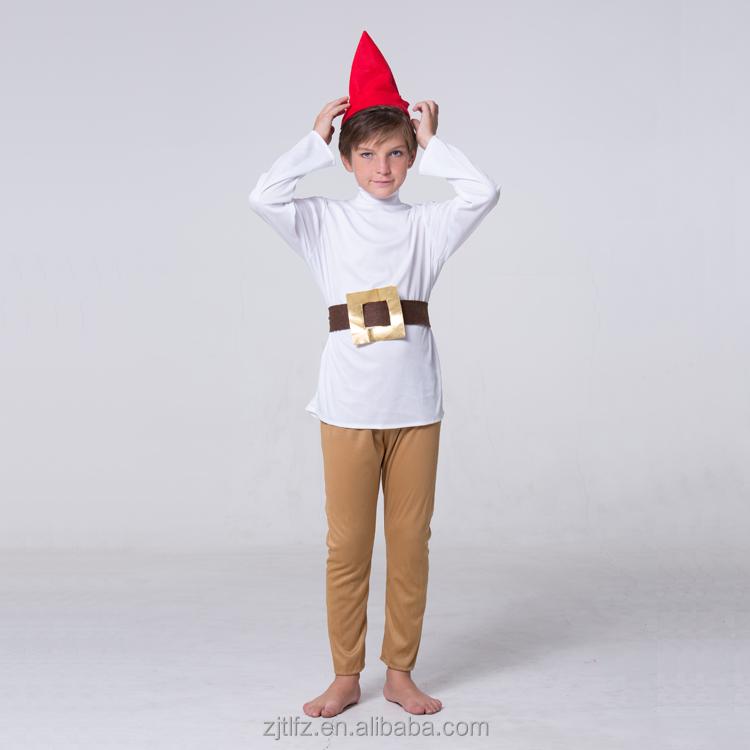 Smurf Dwarf Gnome White Hat  Adult Size One Size Fancy Dress Accessory