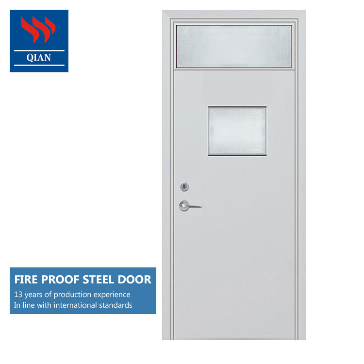 2hr fire rated security steel fireproof exit <strong>doors</strong> with push bar