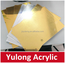 Thin 1mm to 6mm Gold Mirror Acrylic Sheet