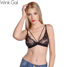 Free Shipping 2014 Lei mesh fabric sling character design sexy camisoles bra
