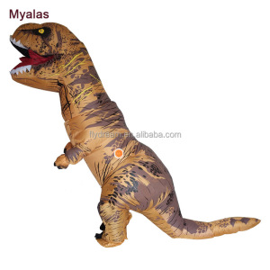 T Rex Inflatable Costume Dinosaur Inflatable Halloween Costume Fancy Party Halloween Christmas Costume For Men Brown Color