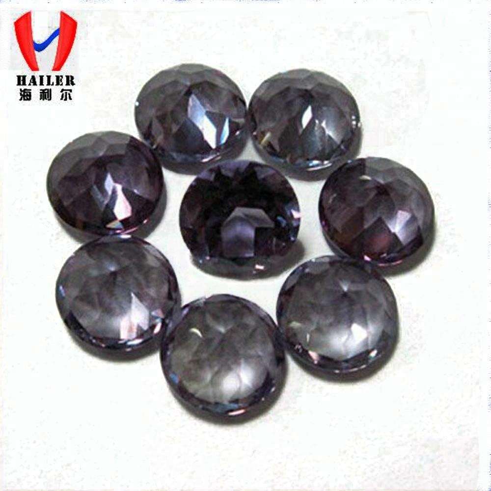 NO.46 Round color changing Synthetic Stone Alexandrite