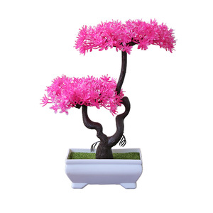 Small potted Plant  Artificial trees Plants Home Decor Ideas Small hydrangea plant indoor For Plastic Bonsai