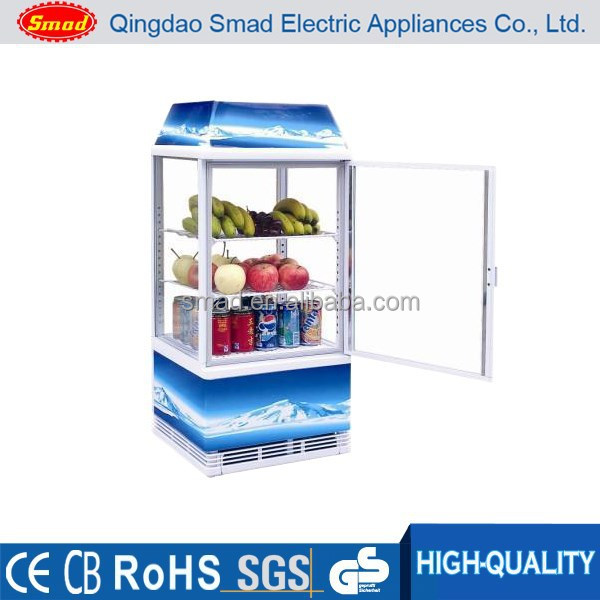 Supermarket Vertical Four glass door display showcase/Transpartent Beverage