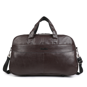high quality large vintage best mens designer overnight travel soft brown pu leather duffle bag
