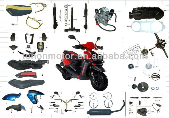 Scooter motorcycle parts,italika motorcycle parts for WS150, OEM Quality