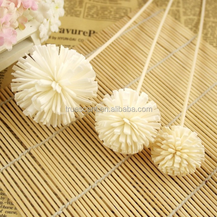 Factory Direct Sale Handmade Sola Wood Paper Diffuser Flower Wood Artificial Flower with Reed Stick