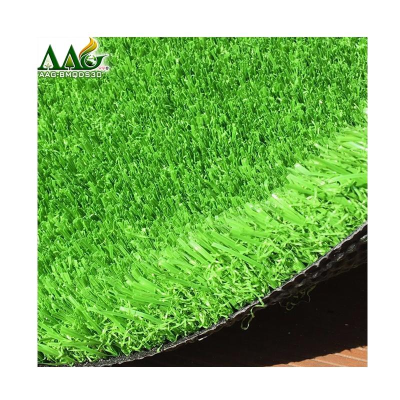 Best Non Infill Soccer Grass in Guangzhou China Artificial Grass supplier, Dark green & light green