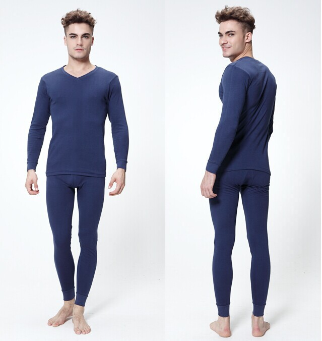 high quality cotton autumn winter long johns man's thermal underwear man/men Long Johns Set