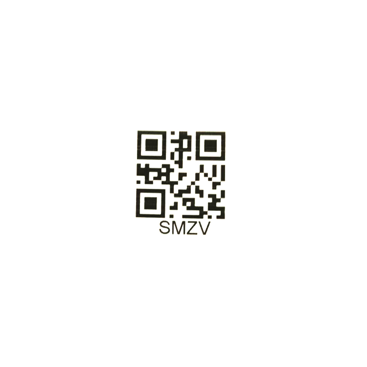 Custom QR code label lijm Metalen Code Technologie security sticker afdrukken