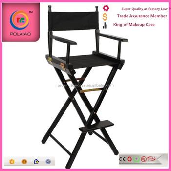 Makeup Oak Wooden Chair Alloy Aluminum Director Chair Folding Makeup Chair  Lightweight Director Folding Chairs