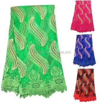 Embroidery Designs Polyester High Quality African Cord Laceeen