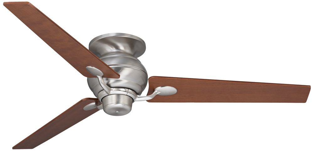 "60"" Spyder Steel Walnut Tapered Blades Hugger Fan"