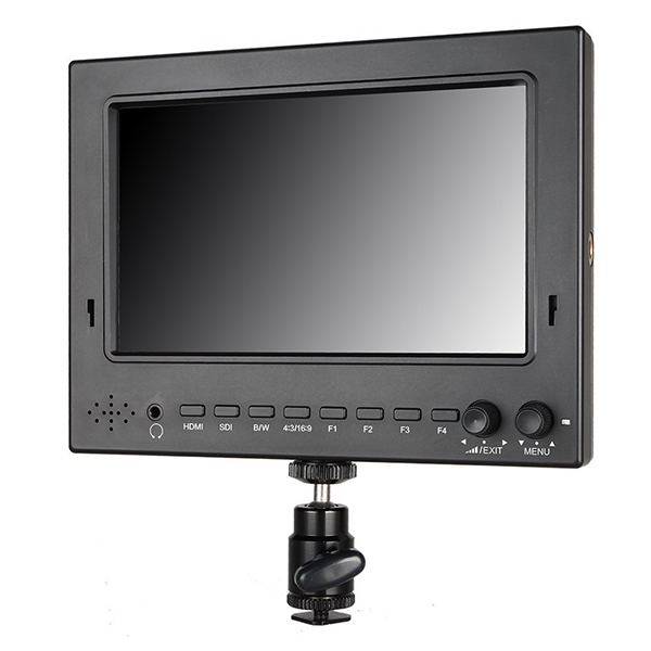 Feelworld FW702-HSD 7 inch IPS Field Monitor with Peaking Focus 3G-SDI 1024 x 600 Top Camera Monitor for DSLR LCD Monitor